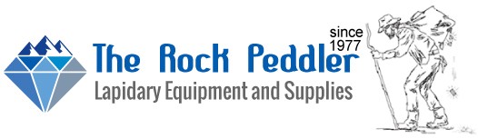 The Rock Peddler- Discount Lapidary Equipment Logo
